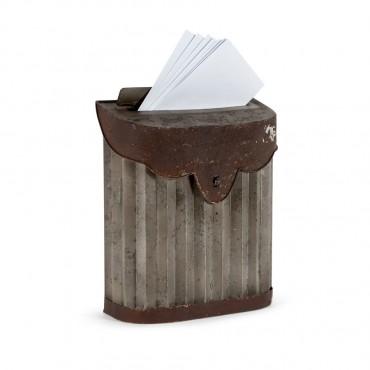 Antique Postbox Parcel Letterbox Post Box Metal 24.5x29.5cm