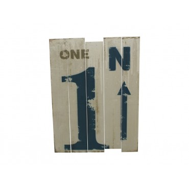Wood Look Wall Plaque - No.1 Hanging Screen Sign Wooden 35x36cm