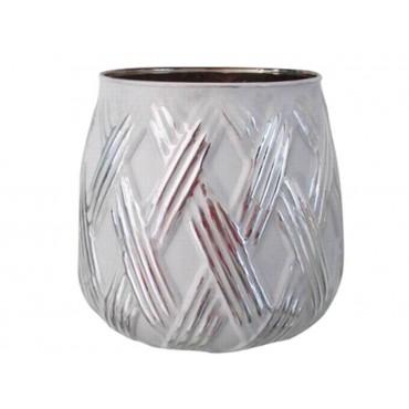 Glass Tealight Candle Holder Lantern Tealight Lamp Glass White 10x9cm