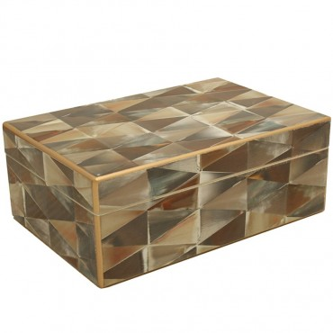 Faux Mosaic Rectangle Box Storage Container Holder MDF 0 17x7cm