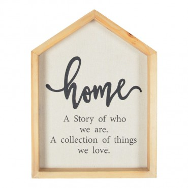 Home Story Framed Wall Art Hanging Screen Sign 30x40cm