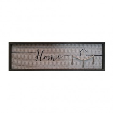 Large Textured Home Framed Wall Art Hanging Screen Sign 30x100cm
