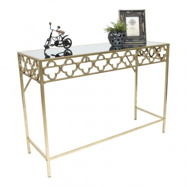 Aura Quatrefoil Console Table Hallway Hall Unit 113x80cm