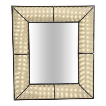 Large Tropea Rectangle Wall Mirror Hanging Art 78x90cm