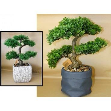 Set 2 Faux Bonsai Assort Plant Fake Floral Artificial Ceramic Pot 20x38cm