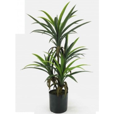 Faux Yucca Tree In Pot Plant Fake Floral Artificial Green 30x82cm
