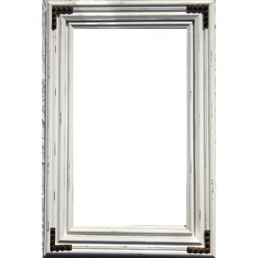 Rectangle Tall Barn Inspired Wall Mirror Hanging Art Bathroom Rustic 46X126Cm