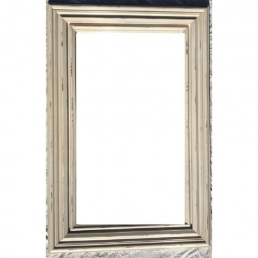 Rectangle Print Wall Mirror Hanging Art Bathroom Timber Print Design 62X92Cm
