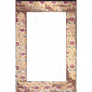 Rectangle Wall Mirror Hanging Art Bathroom Timber Rustic White 82X122Cm
