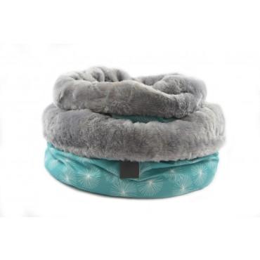 Bag To Bed Dandelion Teal Size 1 Dog Cat Puppy Cushion Mattress Mat 60x25cm