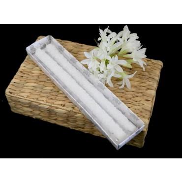 bulk 24 Flower Dinner Candle Wedding Wax White 3x33cm