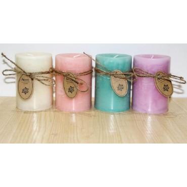 bulk 24 Scented Pillar Candle 4 Assort Wedding Wax 7x15cm