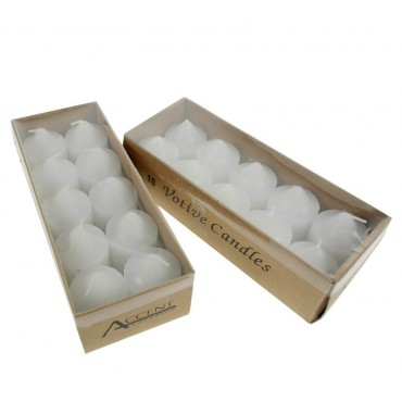 bulk 360 Votive Candle Unscented Pack Of 10 Wedding Wax White 3x4cm