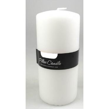 bulk 24 Unscented Pillar Candle Wedding Decor Wax White 7x15cm