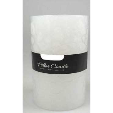 bulk 36 Unscented Pillar Candle Wedding Decor Wax White 7x10cm