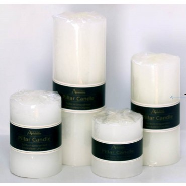 bulk 24 White Pillar Candle 457G  Wedding Party Tapered Wax White 7x14cm
