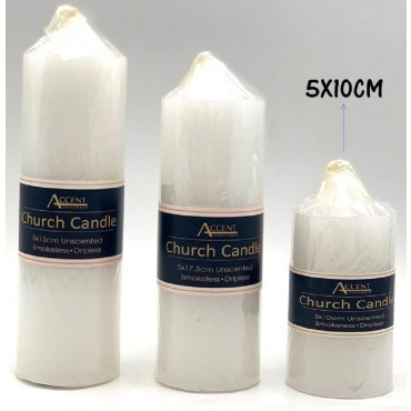 bulk 24 Church Candle 260G Wedding Party Wax White 5x17cm