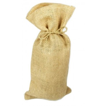 bulk 36 Hessian Bag With Twine Gift Party Wedding Burlap Natural 16x33cm