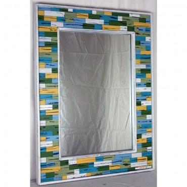 Rectangle Print New York Wall Mirror Hanging Art Silk Screen Printing 52X72Cm