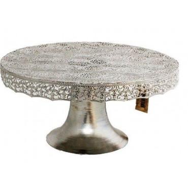 bulk 4 Moroccan Cake Stand Cake Muffin Cupcake Wedding Metal Silver 29x14cm