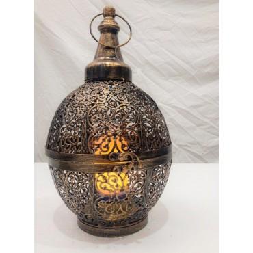 Senser Moroccan Style Lantern Candle Holder Tealight Lamp Metal Brass 19x34cm