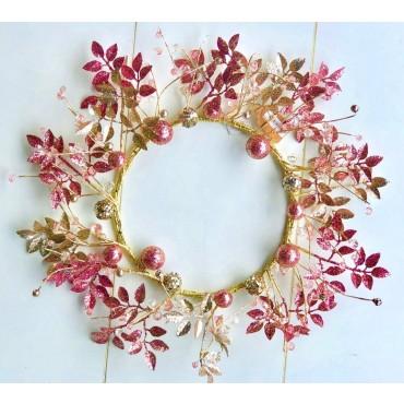 bulk 6 Shimmer & Glits Wreath Party Wedding 50x50cm