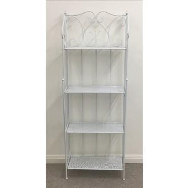 Arthur Baker Stand Shelve Rack Bookshelf Storage Metal Matte White 60x165cm