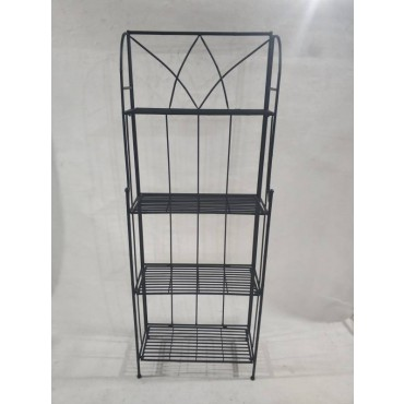Melinda 4 Tier Baker Stand Shelve Rack Bookshelf Storage Metal Black 60x160cm