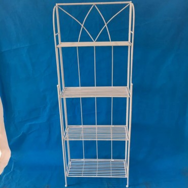 Melinda 4 Tier Baker Stand Shelve Rack Bookshelf Storage Metal White 60x160cm