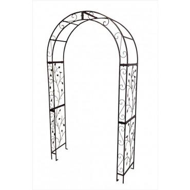 Garden Arch Plant Climber Outdoor Arbor Wedding Event Metal Black 121x220cm