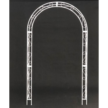 Garden Arch Plant Climber Outdoor Arbor Wedding Metal Matte White 121x220cm