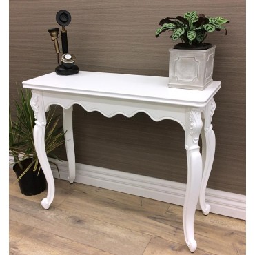 Saville Console Table Hallway Hall Unit Entry Side Timber White 95x78cm
