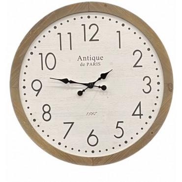 Elizabeth Round Wall Clock Hanging Art Display Home Decor Metal MDF Timber 71cm
