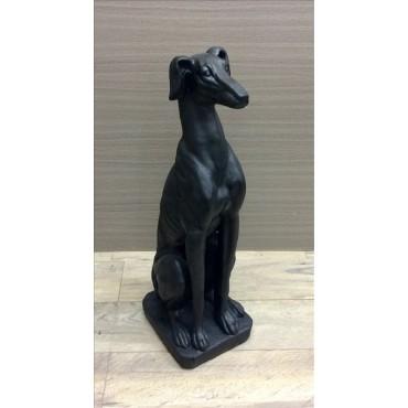 Large Greyhound Dog Statue Animal Garden Sculpture Ornament Black 28x82cm