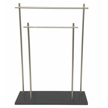 Moose Towel Rack Bathroom Hanger Rack Holder Metal Marble 62x85cm