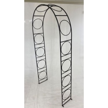 Lewis Garden Arch Metal Plant Climber Outdoor Arbor Wedding Black 107x216cm