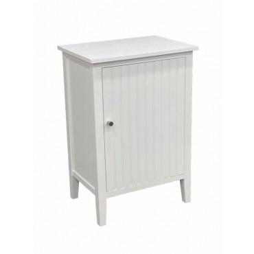 California Bedside Table Lamp Bed Side Unit Nightstand Timber White 48x70cm