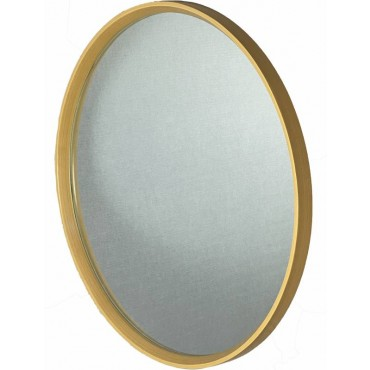 Willow Round Wall Mirror Hanging Art Wood Framed Bathroom Gold 81cm