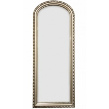 Mietta Rectangle Wall Mirror Hanging Art Bathroom Silver Frame 69x175cm