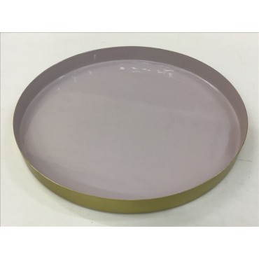 Bankstown Plate Decorative Food Platter Holder Iron Metal Lilac 30x2.5cm