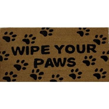 Wipe Your Paws Door Mat Doormat Outdoor Front Rug Coir Fibre Rubber 45x1.5cm