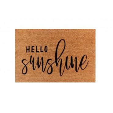Hello Sunshine Doormat Door Mat Outdoor Entrance Front Rug 60x2cm