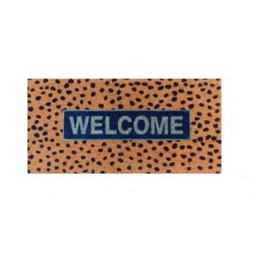 Large Welcome Dot Doormat Door Mat Outdoor Entrance Front Rug 90x3cm