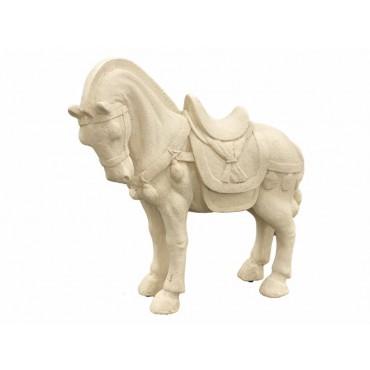 Harvest Horse Animal Sculpture Ornament Figurine Poly Resin Cream 47cm