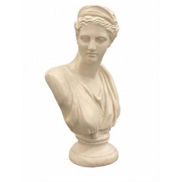 Betty Bust Ornament Figurine Sculpture Poly Resin Cream 32x51cm