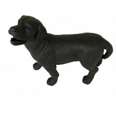 Harlow Dog Animal Sculpture Ornament Figurine Poly Resin Matte Black 46x48cm