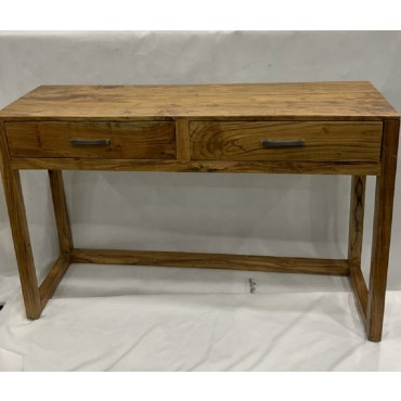 London Console Table Hallway Hall Unit Entry Side Acacia Wood Natural 118x75cm