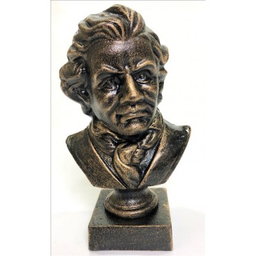 Beethoven Bust Ornament Figurine Sculpture Cast Iron Bronze 15x26cm