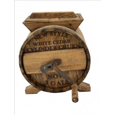 Rum Churn Churn Dairy Urn Can Agriculture Wood Metal Natural 43x40cm