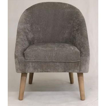 Bulk 2 Grant Fabric Chair Seat Sofa Lounge Tub Provincial Timber Beige 58x72cm